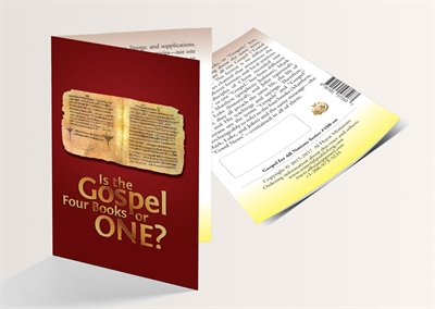 Is the Gospel Four Books or ONE? (English Version) - 250 Copies